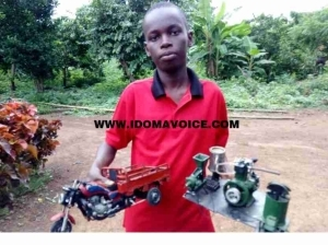 17-Year-Old Boy Builds Motorcycle, Grinding Machine In Benue (Photos)